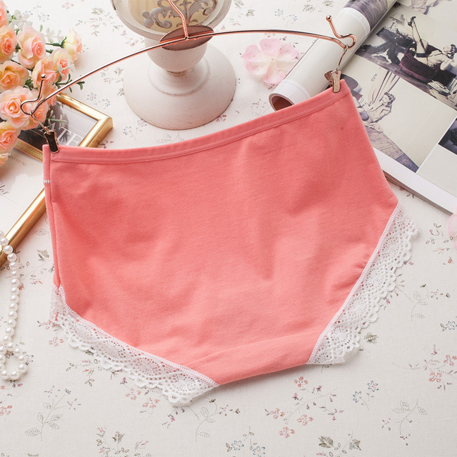 women multi-colors quality panties, women's plus underwear Hot sale Cotton with Lace Side best quality seamless sexy mid waist