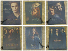 Twilight Kristen Stewart / Robert Pattinson Retro Kraft Paper Movie Poster Painting/wall sticker /kraft poster(China)