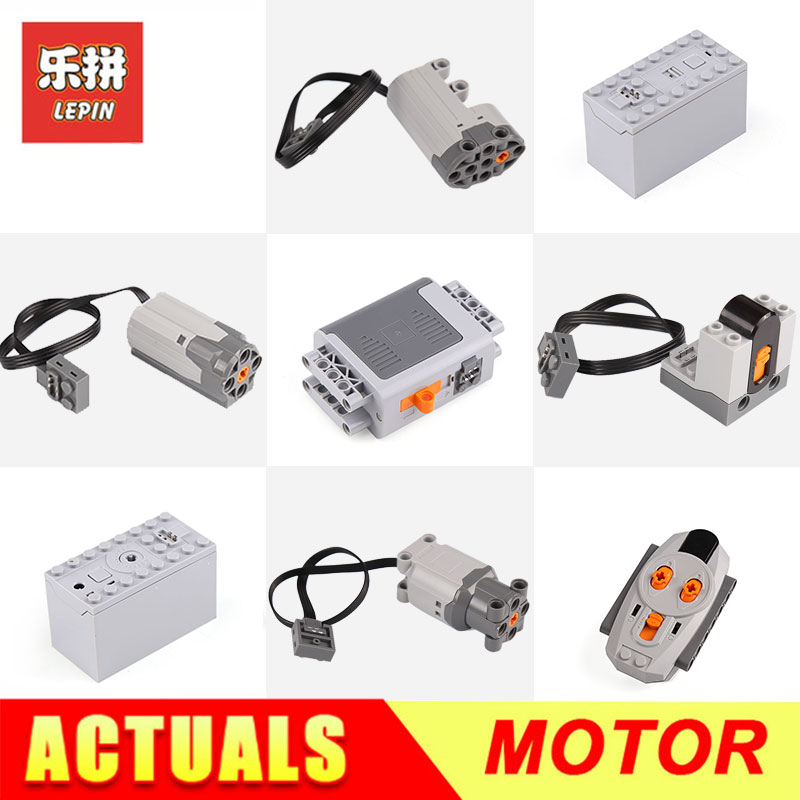 Lepin Motor Technic Series 8881 8883 8884 Train Remote Control Battery Box Switch LED Light Power Functions 20001 3368 20006 цена