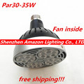35W Par30 LED Spot Light for Tracking Lights with Internal Fan, used for Supermarket/Mall Tracking Light, 5Pcs/Lot