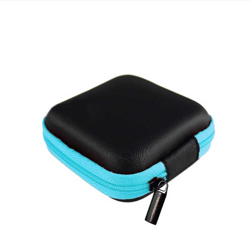 1PcRandom color Headphones Earphone Cable Earbuds Storage Hard Case Carrying Coin Purse Bag Card Hold box