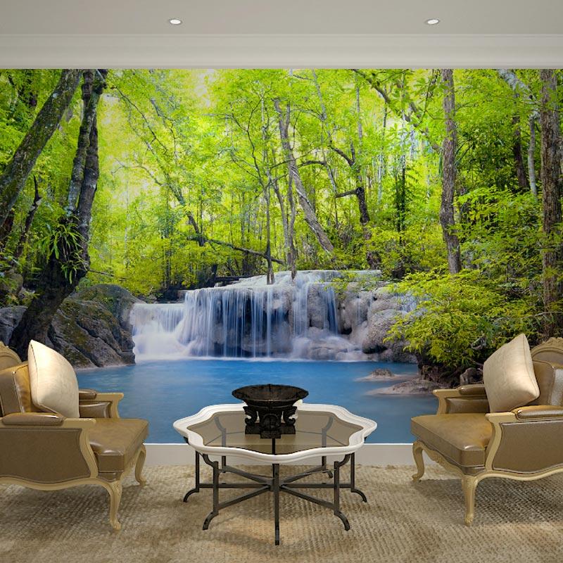 benutzerdefinierte wand dekor murals papel de parede 3d natur landschaft wallpaper wandbild fr wohnzimmer schlafzimmer tv - Natur Wand Im Wohnzimmer