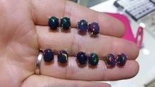 הצעה מיוחדת חדש טבעי שחור אופל עגילים, סגנון פשוט, 925 כסף סטרלינג, מכירה לוהטת