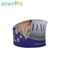 Trade Show Booth 10ft Diameter Portable Advertising Tension Fabric Semi-Circle Display Stand With Single Side Banner Printing
