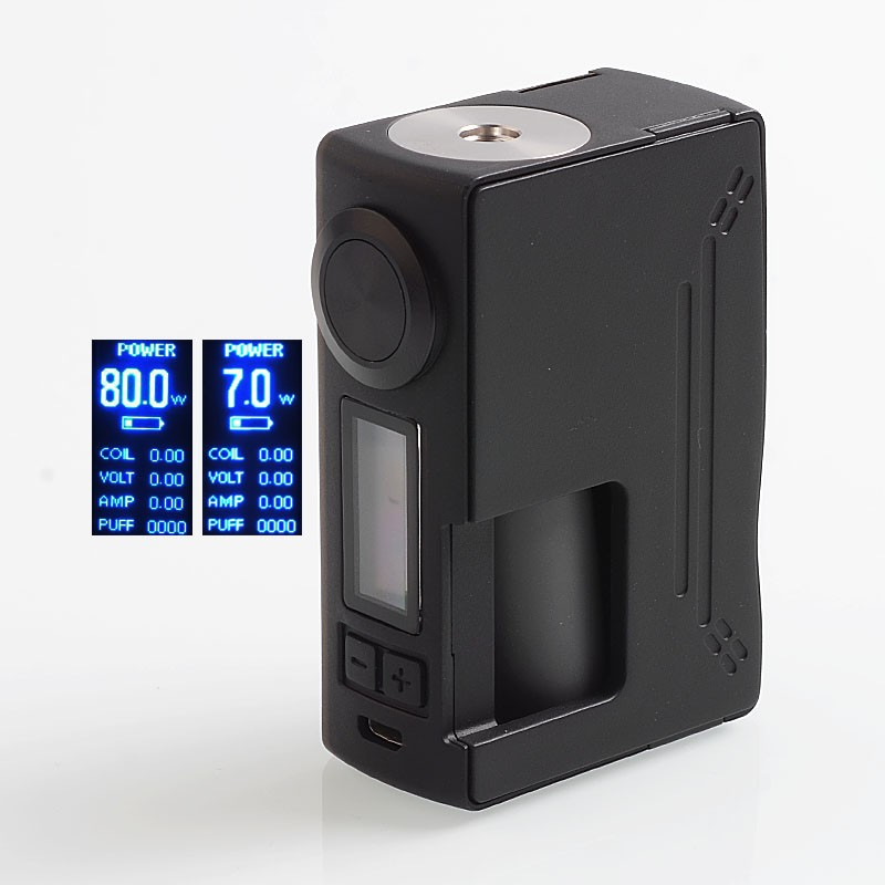 Original Hugsvape Surge 80W TC VW Variable Wattage Squonk 18650 / 20700 Box Vape Mod for RDA / RTA / RDTA Vape Atomizer