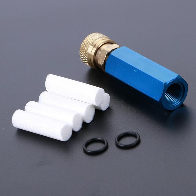 PCP 핸드 펌프 공기 압축기 간단한 리필 오일 물 분리기 여성 빠른 릴리스 및 무료 필터 요소 M10 * 1 스레드