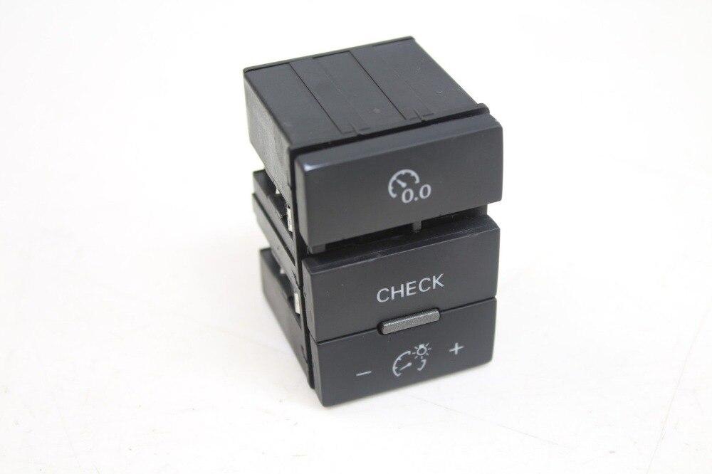 Pour A6 S6 2005-2008 tableau de bord tableau de bord bouton de commutation-ordinateur réinitialiser/éclairage/vérifier 4F0927123A 4F0 927 123 A B