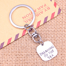 20pcs New Fashion Keychain 19mm dreaming of the sea Pendants DIY Men Jewelry Car Key Chain Ring Holder Souvenir For Gift 20pcs new fashion keychain 39x26mm car vw bug beetle herbie pendants diy men jewelry car key chain ring holder souvenir for gift