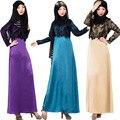 Malyasian Maxi Vestido dubai caftán turco jilba hijab Musulmán mujeres islámicas Abaya de La Manera del vestido Lleno ropa de pakistán