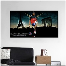 цена PSG Art Poster Silk Light Canvas Painting Print Home Decor For Wall Zlatan Ibrahimovic Football Club Posters And Prints Art онлайн в 2017 году