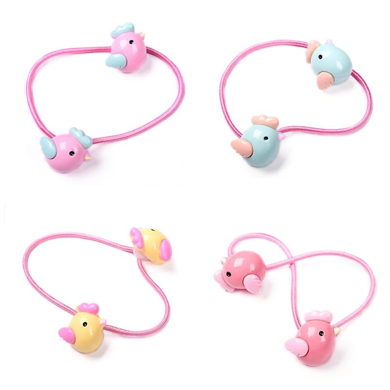M MISM Bird Cute Lovely Hair Accessories Ties Scrunchy Rubber Band Elastic Hair Bands For Girls Children Kids Gum For Hair