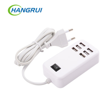EU USB plug home travel charger wall powder adapter smart usb socket hub outlet multi-connection socket for xiaomi for iphone