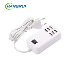 Enchufe USB inteligente para xiaomi y iphone, cargador de viaje para el hogar, adaptador de pared en polvo, toma de corriente MULTICONEXIÓN