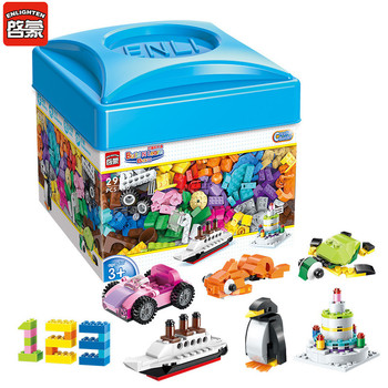цена на ENLIGHTEN 460Pcs DIY Creative Building Blocks Bulk Sets Kids Friends Construction Bricks Educational Toys for Children