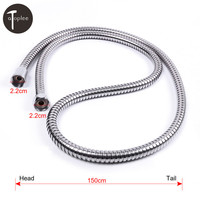 1 PCS Home Stainless Steel Handheld Flexible Water Hose For Shower Room Bathroom 150CM Shower Hose