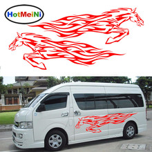 HotMeiNi New Fine Galloping Horse Courageously Pioneering Car sticker for Camper Van RV Trailer Car Styling Vinyl Decal 9 Color