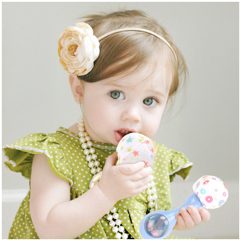 Baby Toys Rattle With Colorful Beads Newborn Soft