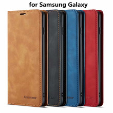 Magnetic Leather Flip Case for Samsung Galaxy S10 5G Plus Luxury Cover Wallet S10E A750 with Card Slot
