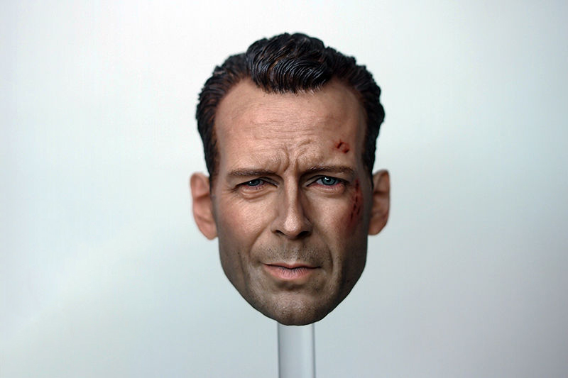 1/6 Scale Die Hard - John Mcclane Bruce Willis Battle Damage Head Model fit 12 Body Model die shi spot burning the soul of a model burns 1 6 head carved figures are base contains mask