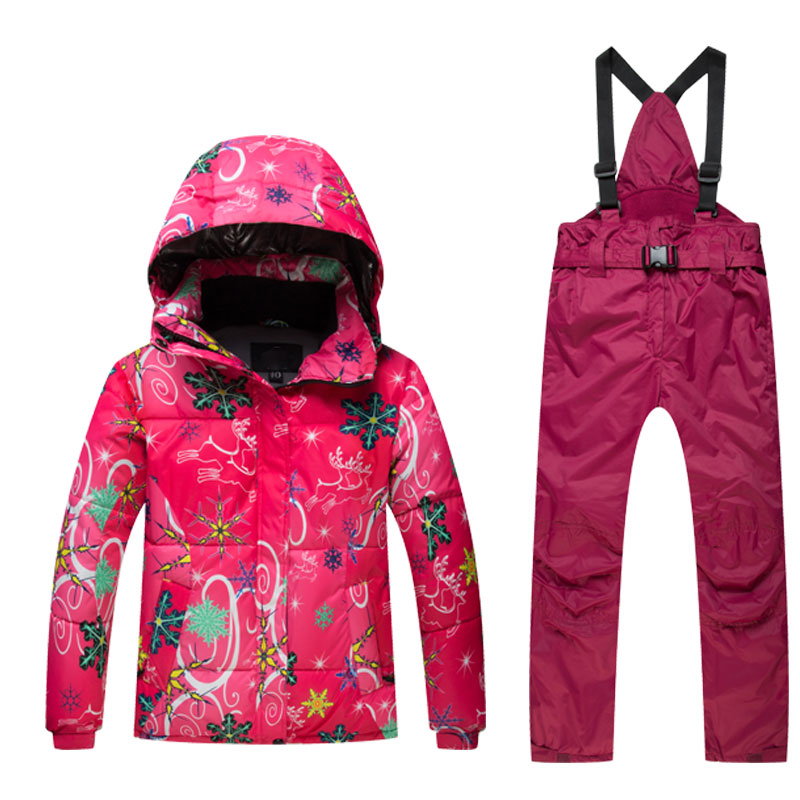 Kids Ski Suit Children Brands Windproof Waterproof Warm Girls And Boy Snow Set Pants Winter Skiing
