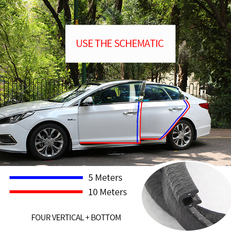 Image 4 - Universal Car Door Edge Scratch Protector 10M Sealing Strip Guard Trim Automobile Door Stickers Decoration Protector Accessories-in Car Stickers from Automobiles & Motorcycles