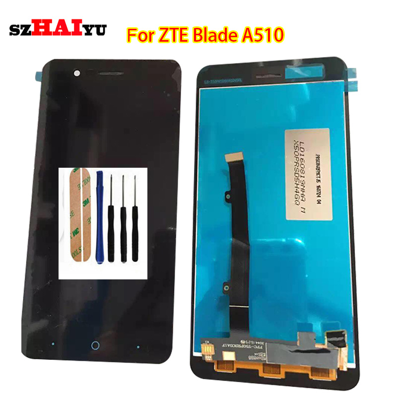 ФОТО 100% Tested Working Well Black LCD Display+Touch Screen For ZTE Blade A510 BA510 BA510C TD-LTE with Digitizer Assembly Tools