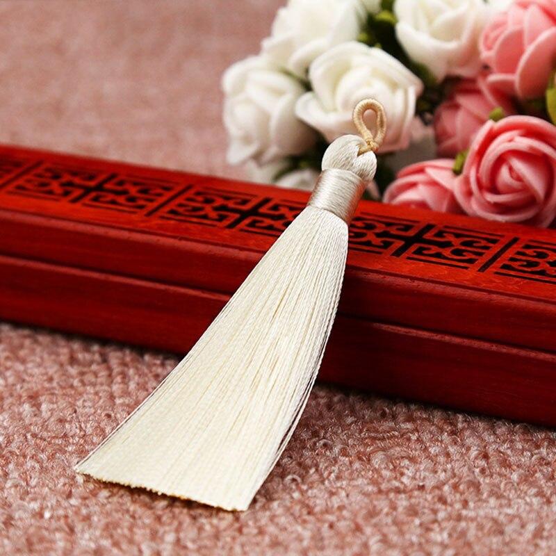 25 цветов, Новое поступление, высокое качество, горячая Распродажа, 1 шт., ручная работа, уникальные красивые шелковые кисточки, свадебные ювелирные аксессуары - Цвет: Rice white