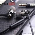 Awei es800m 3.5mm ear earphones super clear bass metal noise isolar earbud para mp3 mp4 celular, frete grátis