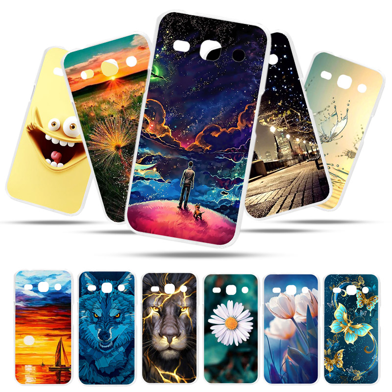 Bolomboy Painted Case For <font><b>Samsung</b></font> <font><b>Galaxy</b></font> <font><b>Star</b></font> <font><b>Advance</b></font> Case Silicone Cases For <font><b>Samsung</b></font> <font><b>G350E</b></font> Cover Wildflowers Cute Animal Bags image