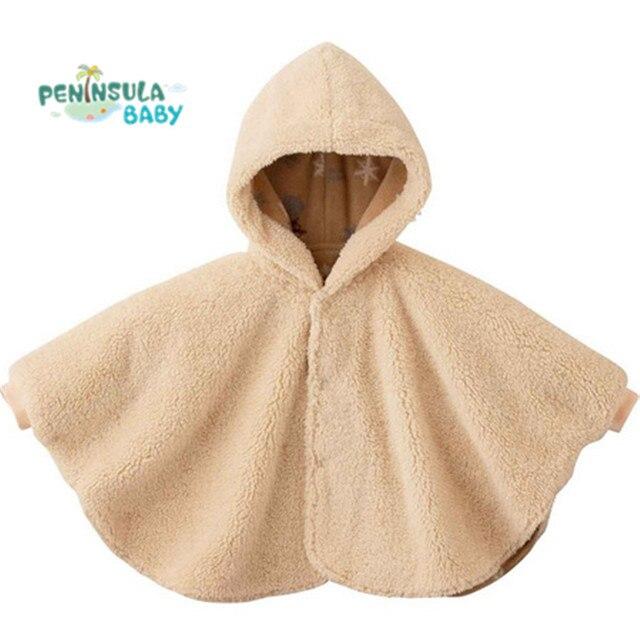 2017 Мода Детские Пальто Мальчики Девочки Костюмы, Пиджаки Руно Плащ Перемычки Пончо Кабо Мантия детская Зима Clothing