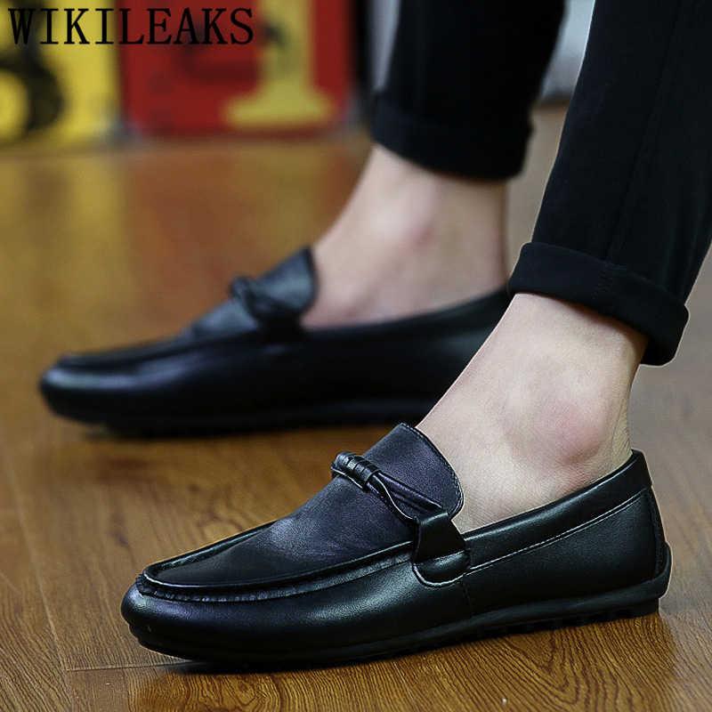 Zapatos de conducción zapatos de cuero casuales hombres zapatos de diseñador de marca de lujo hombres chaussure homme tenis masculino ayakkabi