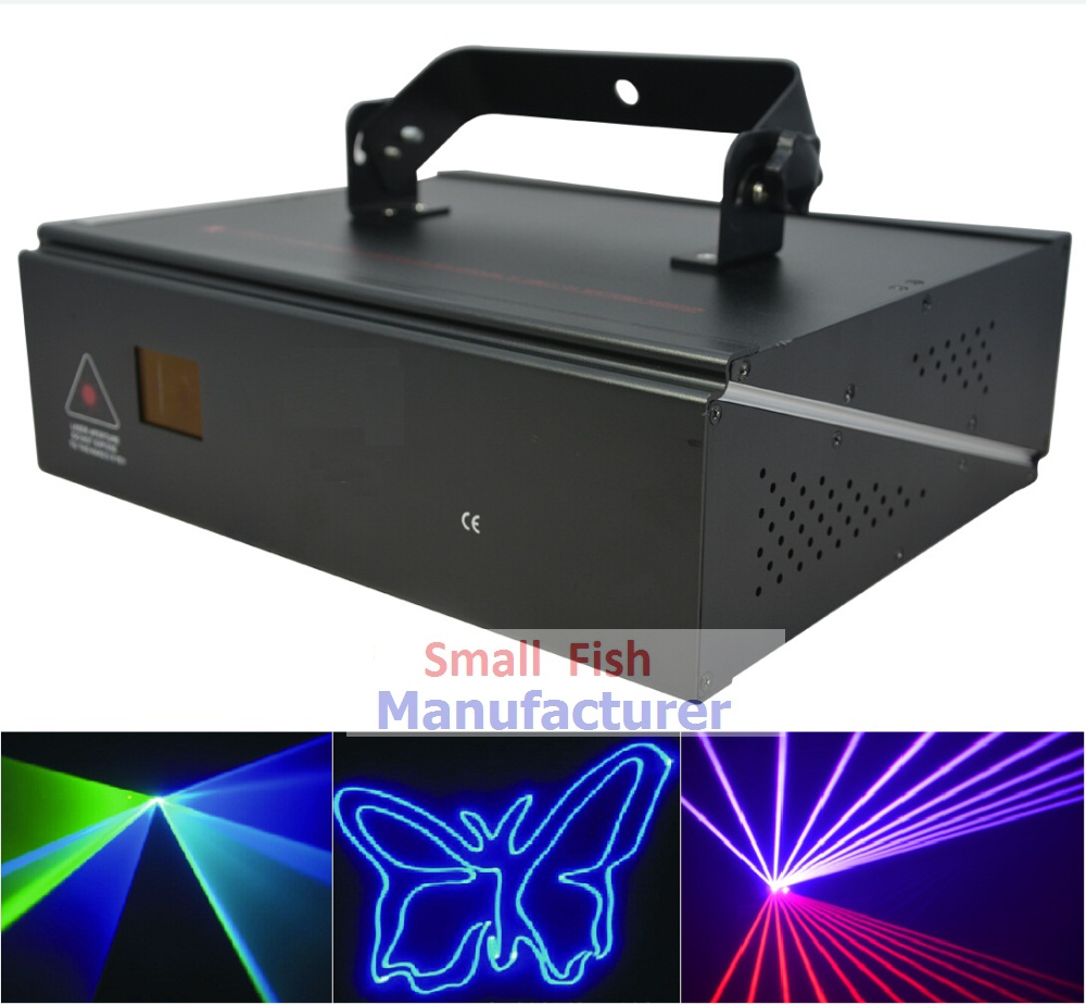 цена Free Shipping 1W Laser Light RGB Full Color Animation Beam Stage Lighting KTV Disco DJ Light 1000mW DMX512 Cartoon Laser Lights