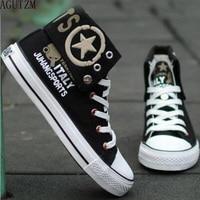 Для Мужчин's вулканическая обувь Для мужчин Демисезонный топ модные кроссовки на шнуровке Высокая Стиль от руки эскизов Мужская обувь q70