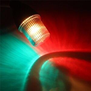 Image 5 - 12 V Marine Boot LED Navigatie Licht Surround Signaal Lamp Ponton Boot Verlichting met Verstelbare Base 235 MM