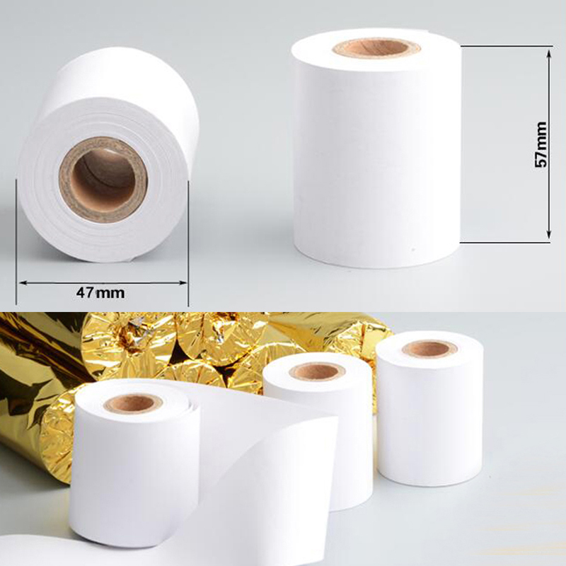 US $10 99  Thicken 4 rolls/lot Thermal Paper 57x50mm High Quality Receipt  Paper POS Receipt Paper Roll Business Company Supplies-in Jewelry Packaging