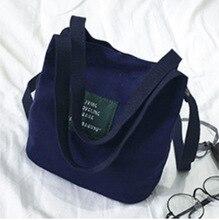 Canvas Embroidery Shoulder Bag Korean Fashion