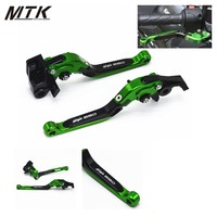 MTKRACING For Kawasaki Motorcycle Brake Levers Adjustable Folding Bike Extensible CNC Clutch For Kawasaki Ninja 650
