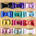 20pcs/lot 12colors sequin bows boutique for newborn baby girl headbands hairband hair ornaments accessories