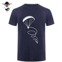 Summer New Fashion Men T Shirt Paragliding Fly Pilot Design Man Cotton Short Sleeve T Shirt