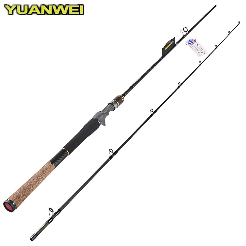 2.1m Casting Fishing Rod 2Section Carbon Lure Rods M Power 6-24g Lure Weight Vara De Pescar Canne A Peche Carp Olta Fish Tackle fish hunter 2 44m best quality 2 sections casting lure rod high carbon china made fishing rods fishing tackle