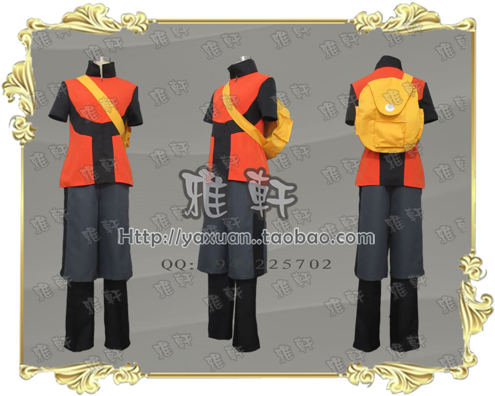 2016 Hot Pocket Monsters Brendan Ruby Cosplay Costume Tailor made With Backpack