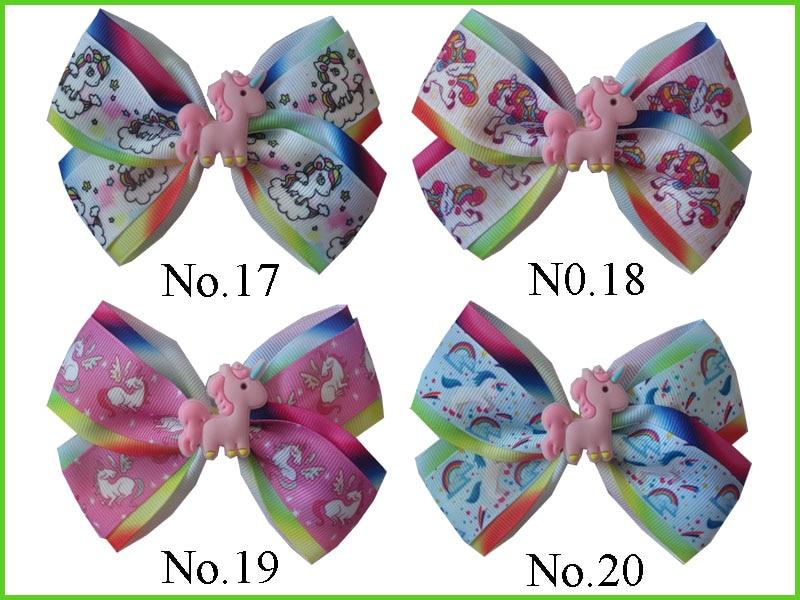 50 BLESSING Girl 4.5 Two Tone Angel Hair Bow Clip Rainbow Unicorn Pony Hairbow женская куртка every girl is an angel xz123