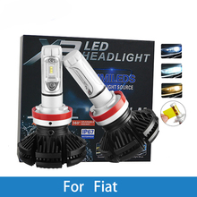 LED Car Headlight Bulb H4 H7 H3 H1 H8 H9 H11 9005 9006 12V Led Auto Lamp For Fiat Uno/Punto/Stilo/Panda/Albea/Linea/Idea/500L цена