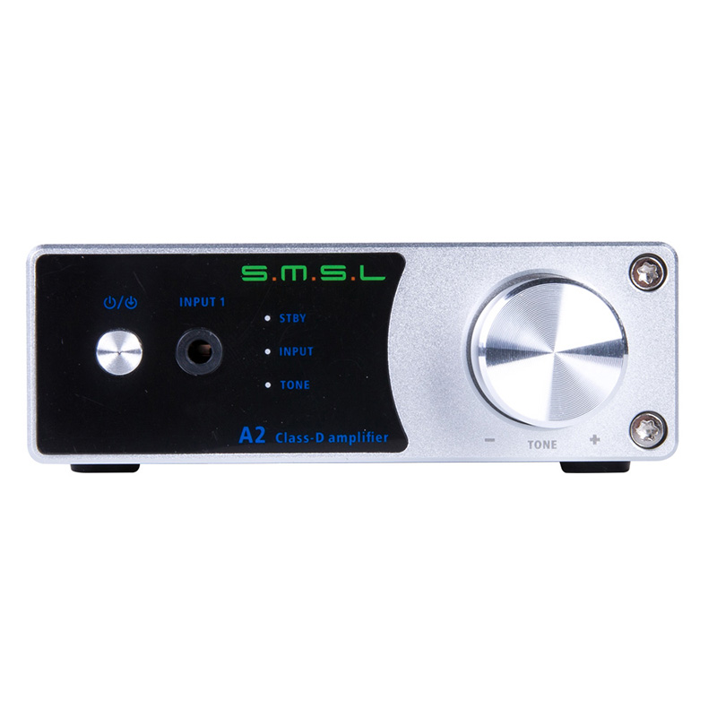 SMSL A2 HiFi TDA7492 40W*2 2.0 Class D Digital Amplifiers Audio Headphone Amplifier Active Subwoofer Output LED Display EQ DV19V