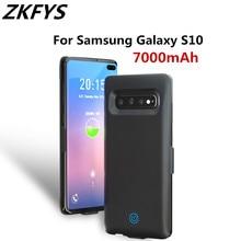 Extenal быстро запасной аккамулятор для телефона 7000 mAh Мощность Bank пакет Зарядное устройство чехол для samsung Galaxy S10 чехол-аккумулятор