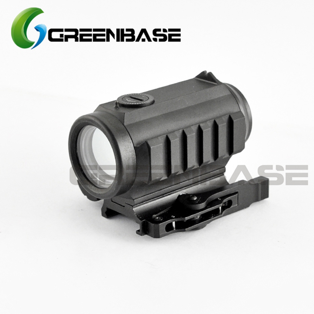 Greenbase 1x30 Red and Green Dot Scope 3.25 MOA Red Dot Sight W/ Rear Sight and Flashlight Mounting Rail QD Mount Aluminum greenbase 3 moa mini red dot sight reflex sight 1x25 reticle red dot scope with qd mount hunting scopes for 20mm rail base