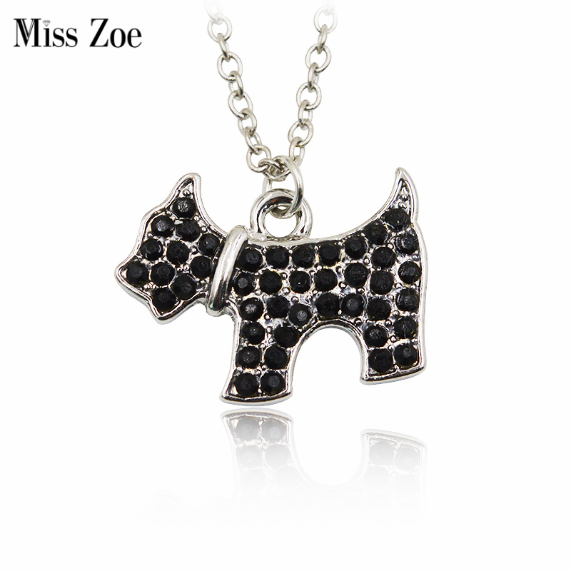Black Rhinestone Cute Animal Pendant Necklace Panda Dog Puppy Cat Kitten Monkey Frog Penguin Special Gift Dog Lovers Pet Jewelry