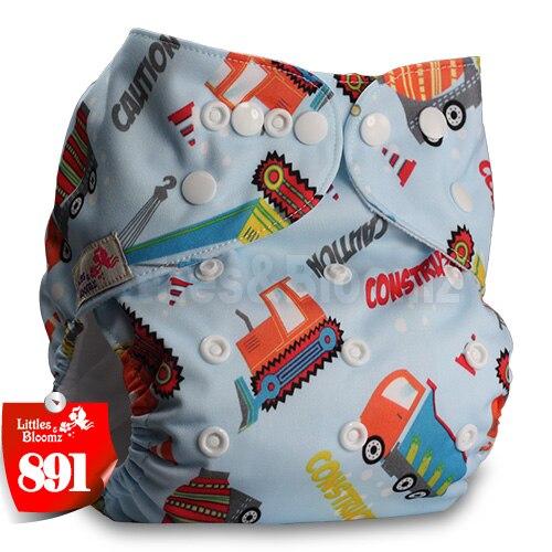 Littles& Bloomz детские моющиеся многоразовые подгузники из настоящей ткани с карманом для подгузников, чехлы для подгузников, костюмы для новорожденных и горшков, один размер, вставки для подгузников - Цвет: 891