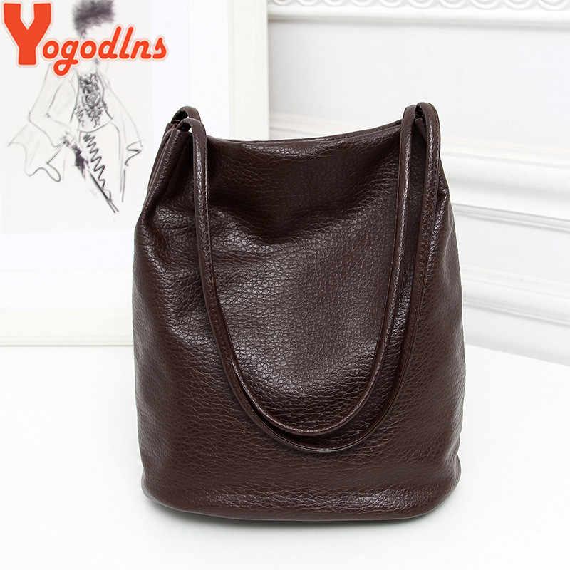 Yogodlns نساء حقائب يد جلدية سوداء دلو حقائب كتف السيدات حقائب كروسبودي سعة كبيرة السيدات حقيبة تسوق بولسا