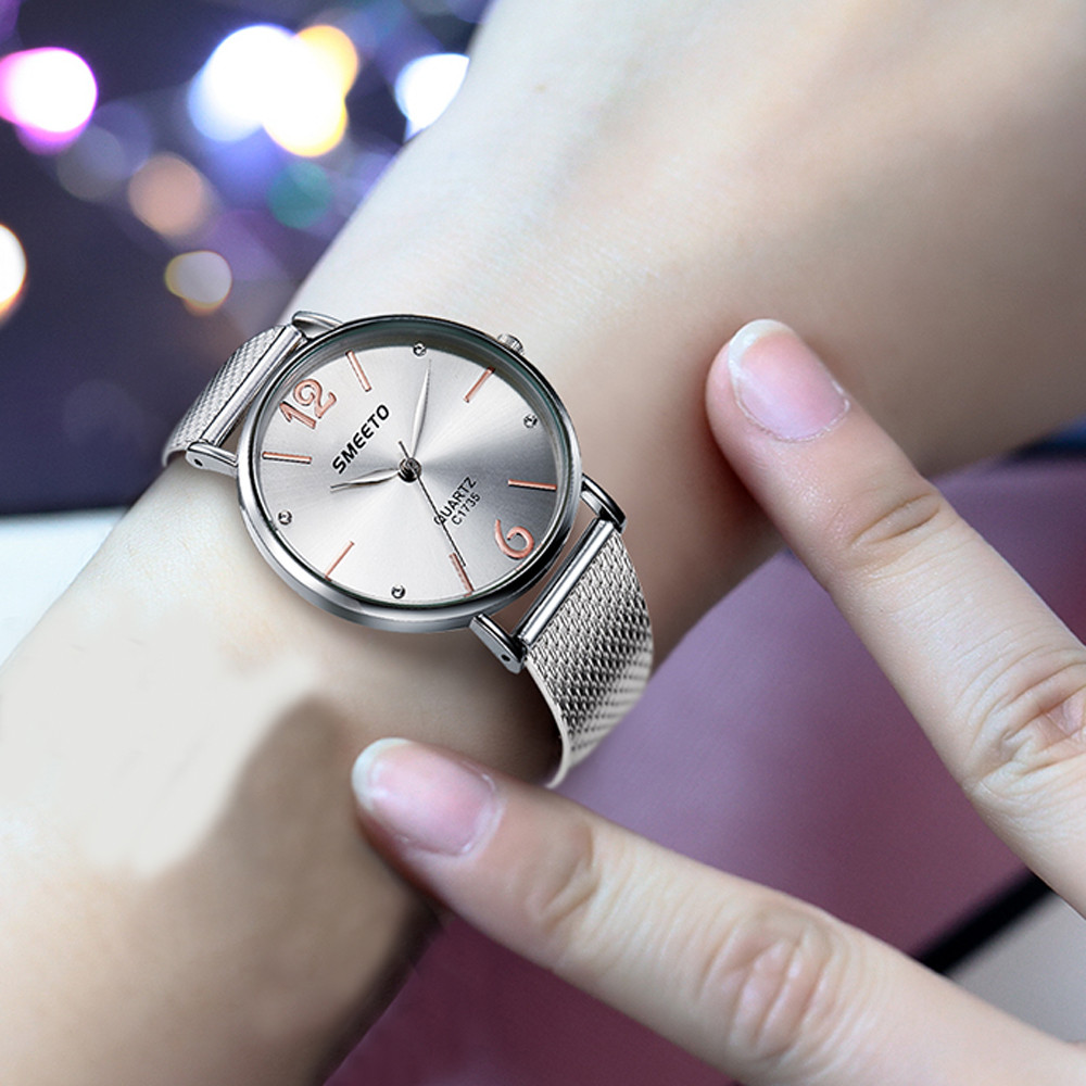 Semmto Watches Womens 2018 New Brand Classic Quartz Stainless Steel Wrist Watch Bracelet Female Lady Watch Relogio Feminino N22 Harmonious Colors Watches